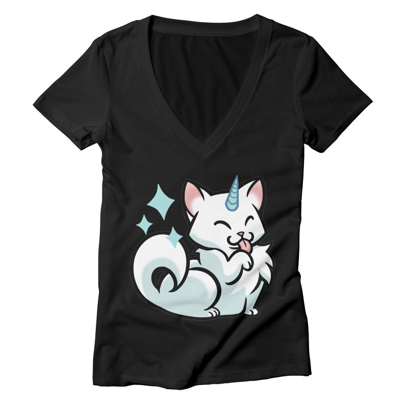 UniCat Women's V-Neck by The Art of Mirana Reveier