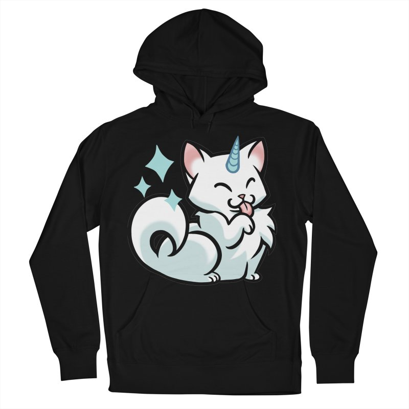 UniCat Men's French Terry Pullover Hoody by mirana's Artist Shop