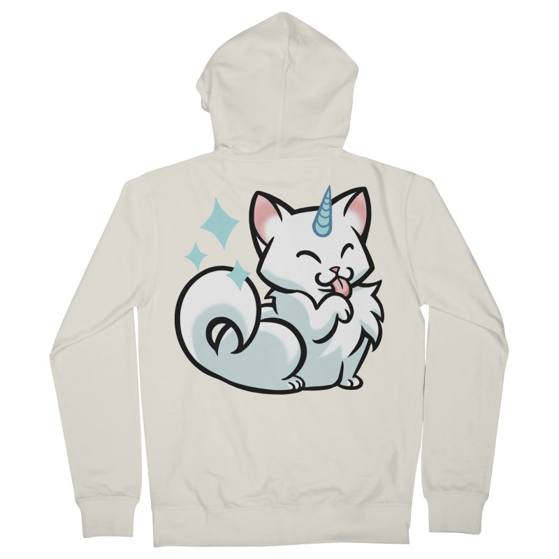UniCat Men's French Terry Zip-Up Hoody by mirana's Artist Shop