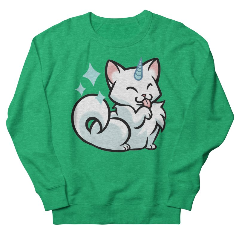 UniCat Men's French Terry Sweatshirt by mirana's Artist Shop