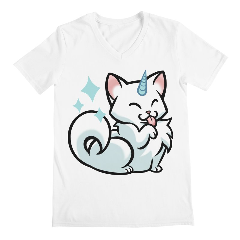UniCat Men's V-Neck by The Art of Mirana Reveier