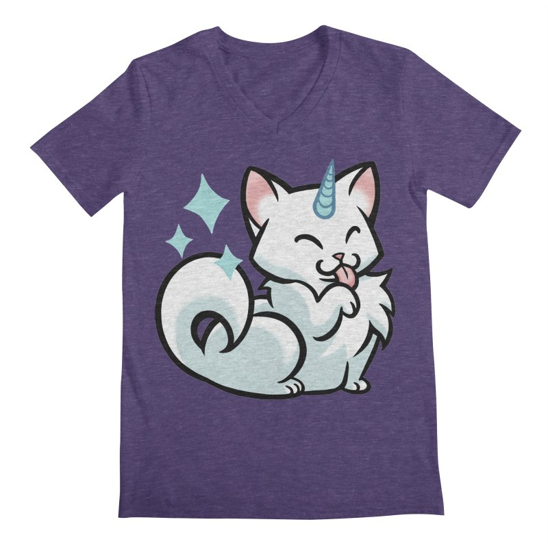 UniCat Men's Regular V-Neck by mirana's Artist Shop
