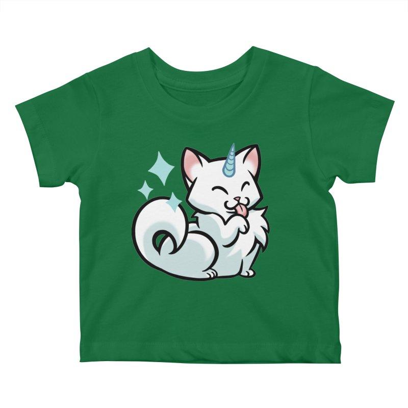UniCat Kids Baby T-Shirt by The Art of Mirana Reveier