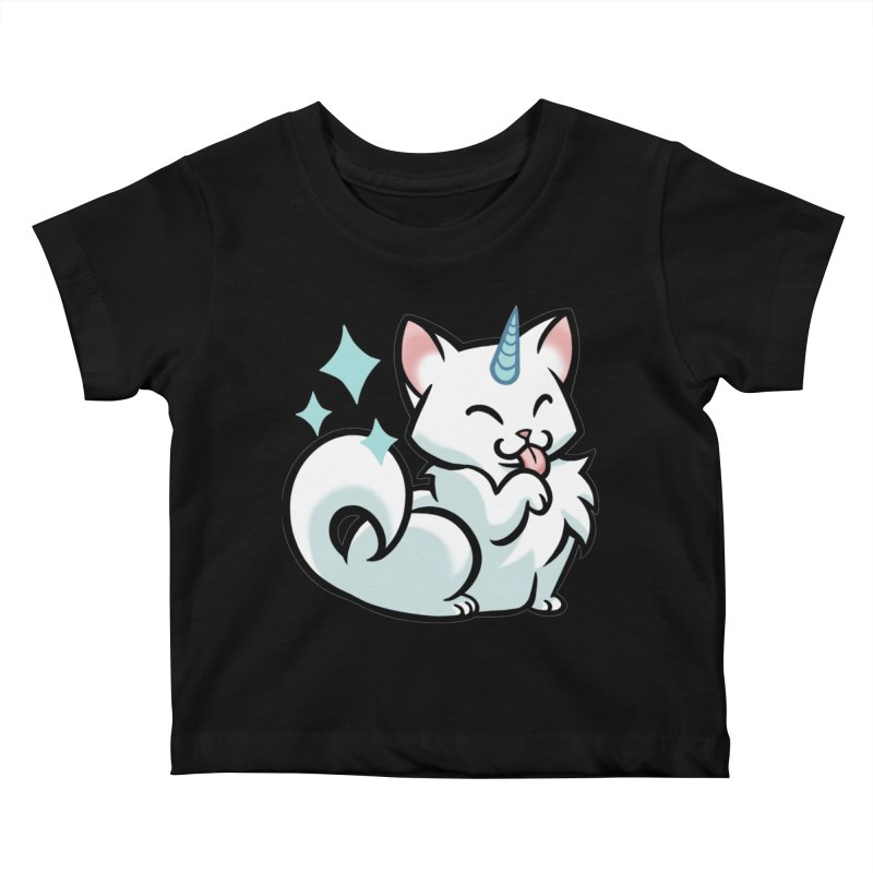 UniCat Kids Baby T-Shirt by mirana's Artist Shop