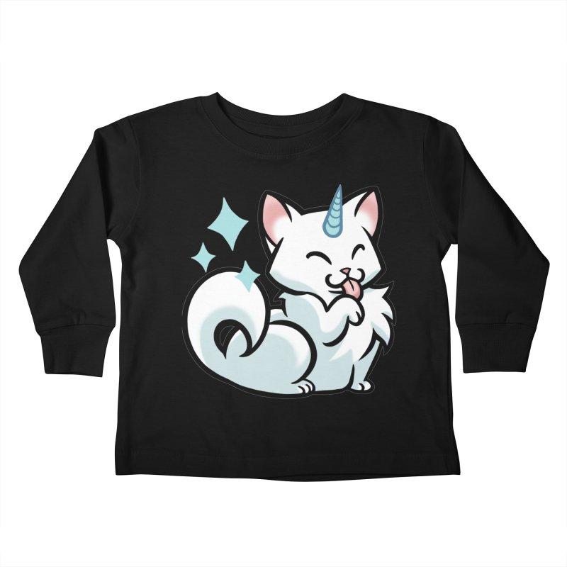UniCat Kids Toddler Longsleeve T-Shirt by The Art of Mirana Reveier