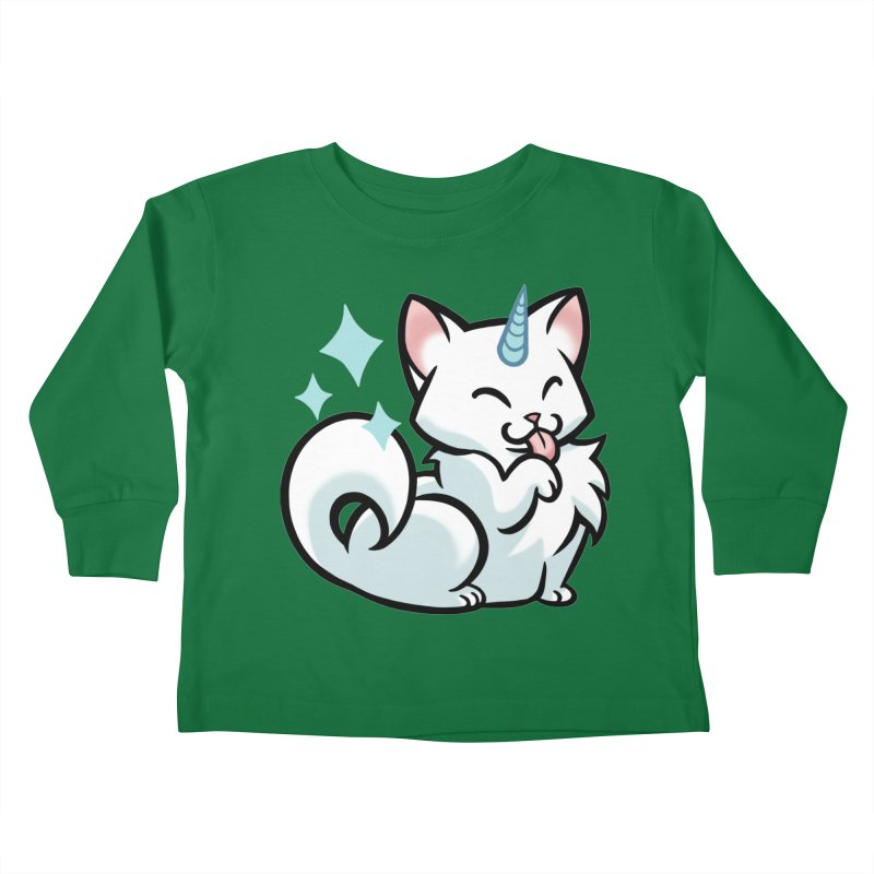 UniCat Kids Toddler Longsleeve T-Shirt by mirana's Artist Shop