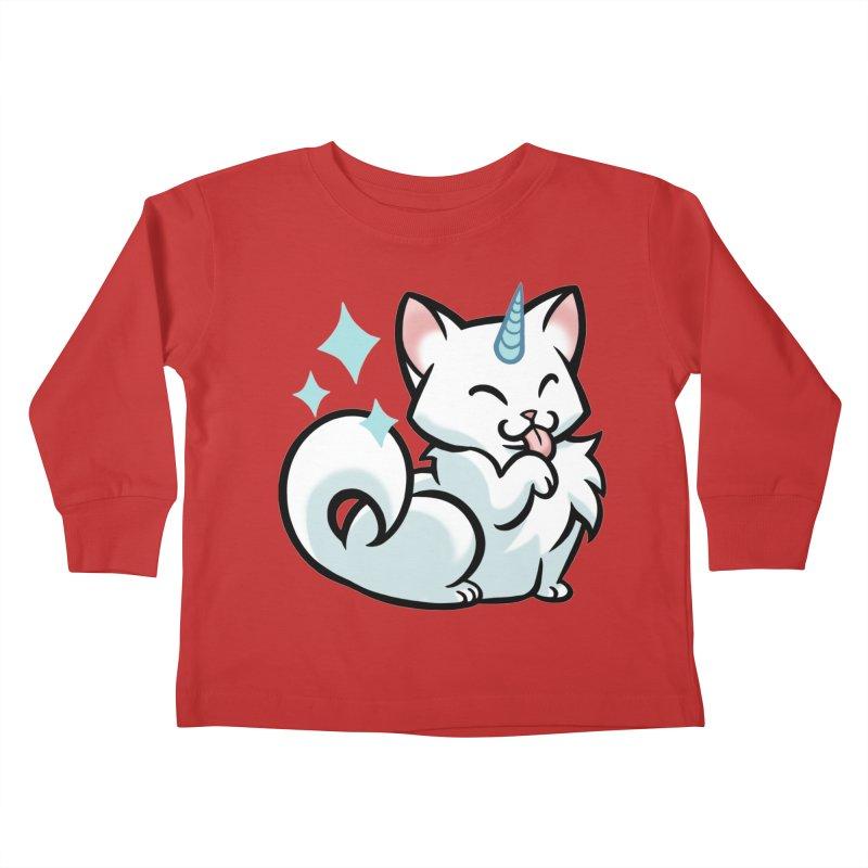 UniCat Kids Toddler Longsleeve T-Shirt by mirana's Artist Shop