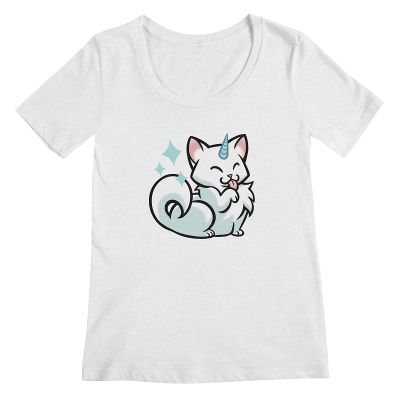 UniCat Women's Regular Scoop Neck by mirana's Artist Shop