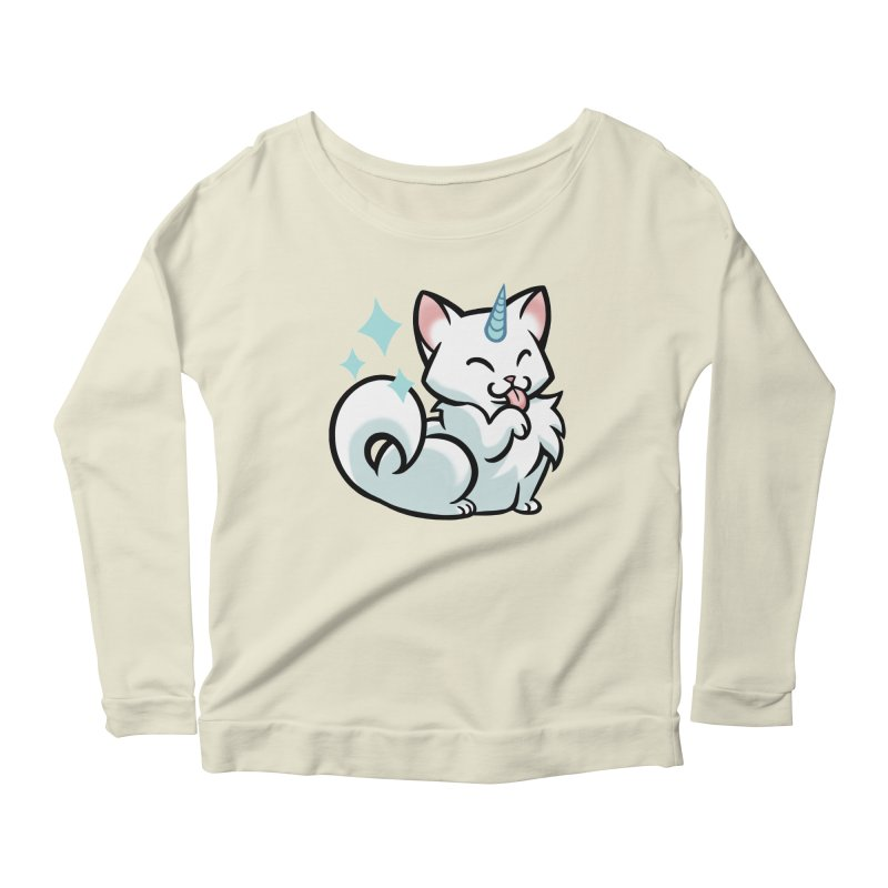 UniCat Women's Longsleeve Scoopneck  by mirana's Artist Shop