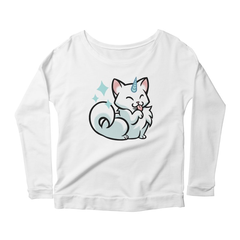 UniCat Women's Scoop Neck Longsleeve T-Shirt by mirana's Artist Shop