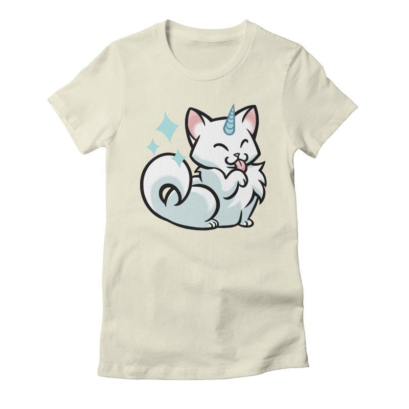 UniCat Women's Fitted T-Shirt by mirana's Artist Shop
