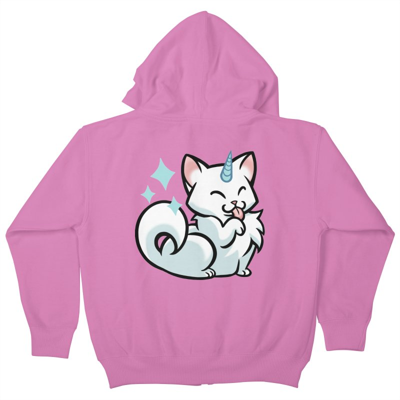UniCat Kids Zip-Up Hoody by mirana's Artist Shop