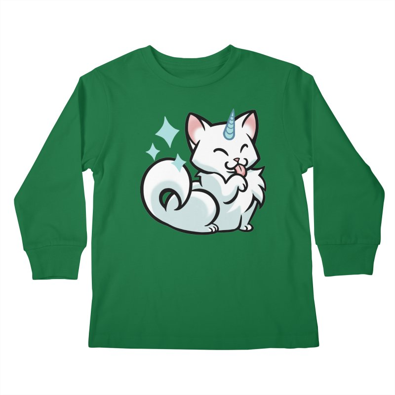 UniCat Kids Longsleeve T-Shirt by mirana's Artist Shop