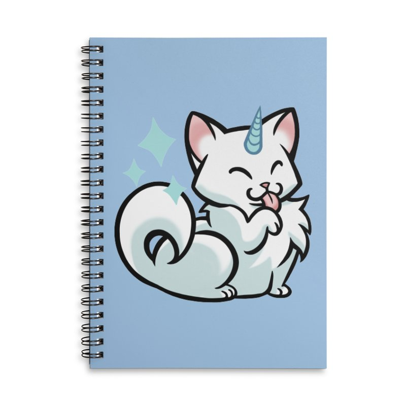 UniCat Accessories Lined Spiral Notebook by mirana's Artist Shop