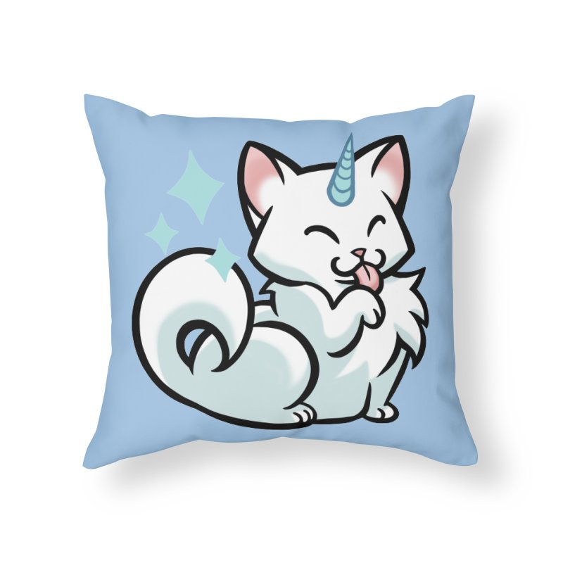 UniCat Home Throw Pillow by mirana's Artist Shop