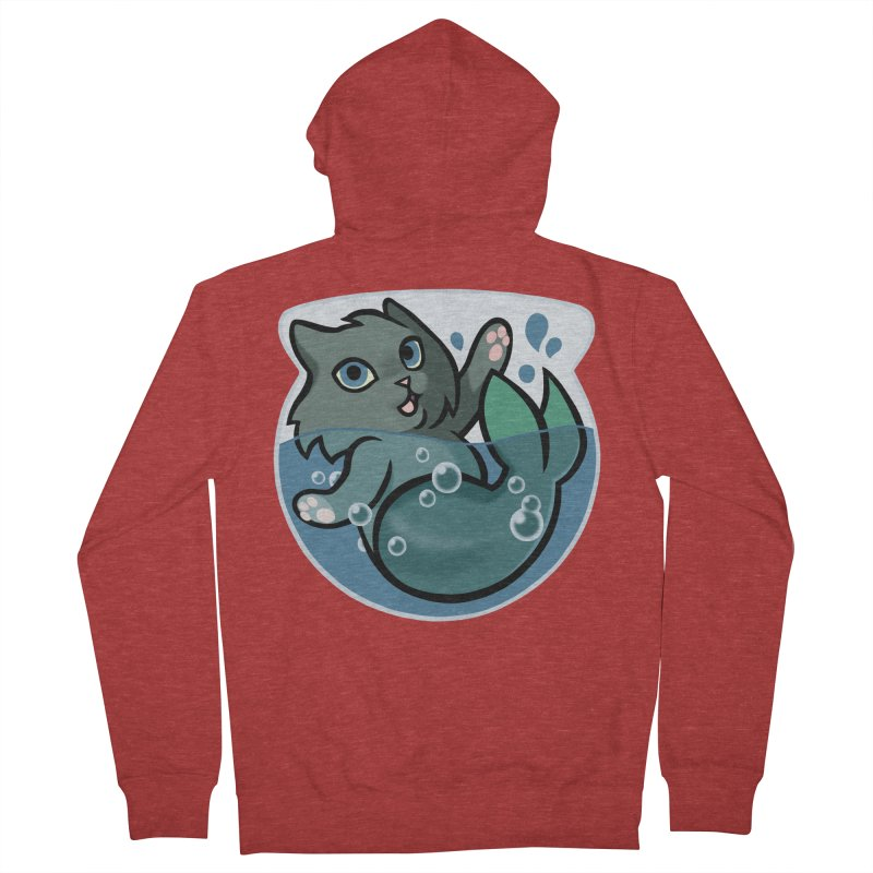 MerCat Women's French Terry Zip-Up Hoody by mirana's Artist Shop