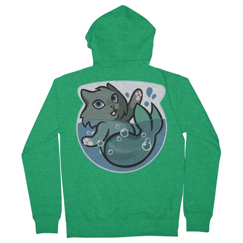 MerCat Men's French Terry Zip-Up Hoody by mirana's Artist Shop
