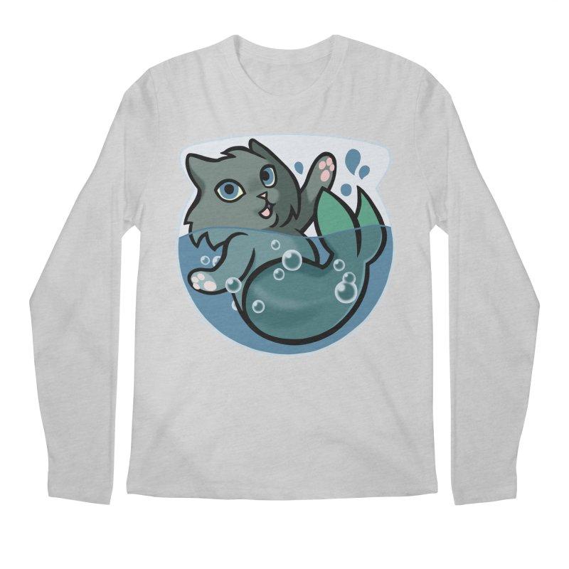 MerCat Men's Regular Longsleeve T-Shirt by mirana's Artist Shop