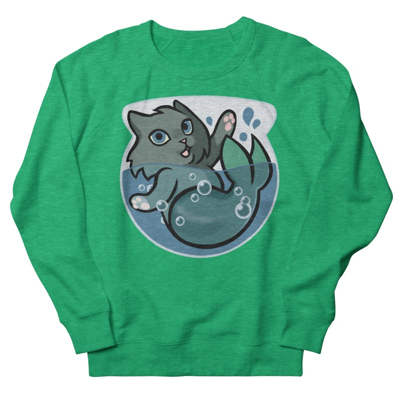 MerCat Women's French Terry Sweatshirt by mirana's Artist Shop