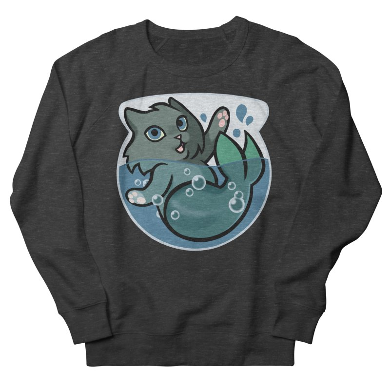 MerCat Men's French Terry Sweatshirt by mirana's Artist Shop