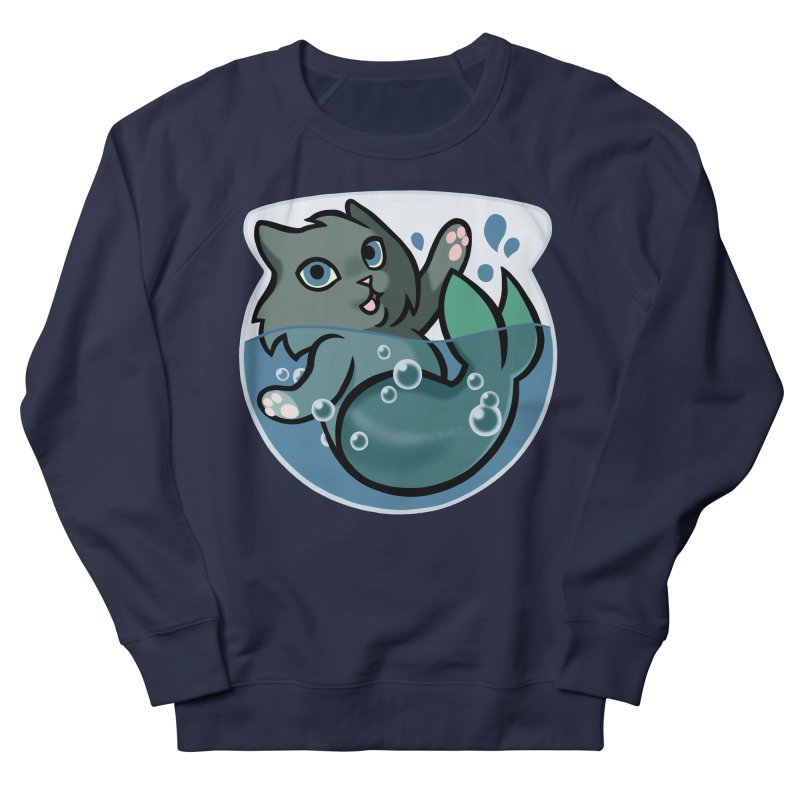 MerCat Men's French Terry Sweatshirt by mirana's Artist Shop
