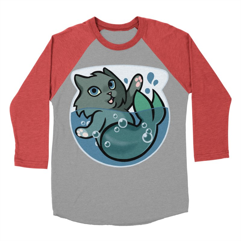 MerCat Men's Baseball Triblend Longsleeve T-Shirt by mirana's Artist Shop