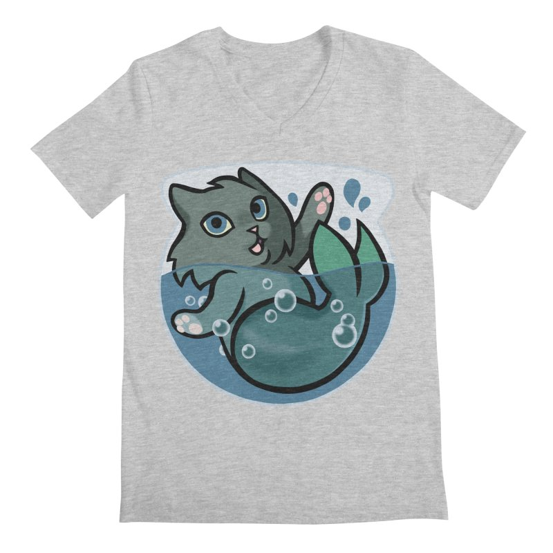 MerCat Men's Regular V-Neck by mirana's Artist Shop