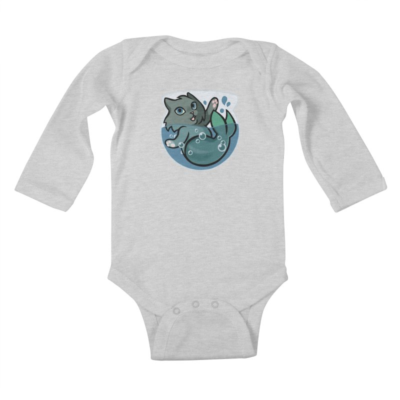 MerCat Kids Baby Longsleeve Bodysuit by mirana's Artist Shop
