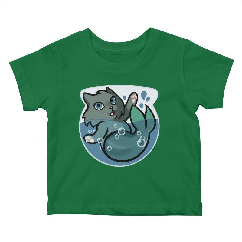 MerCat Kids Baby T-Shirt by The Art of Mirana Reveier