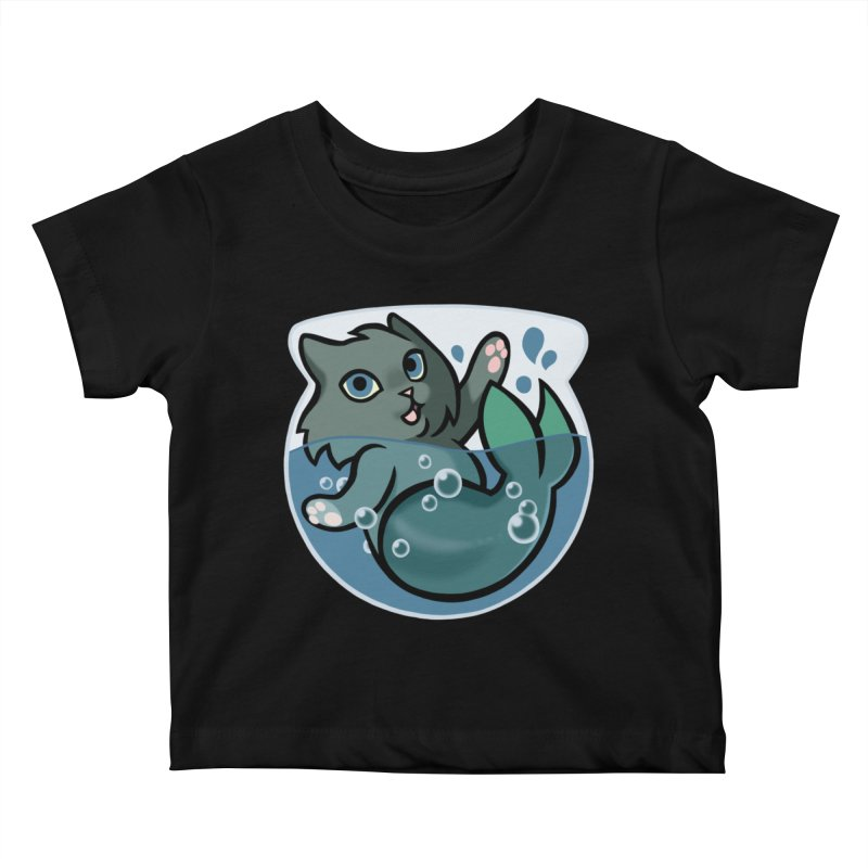 MerCat Kids Baby T-Shirt by mirana's Artist Shop