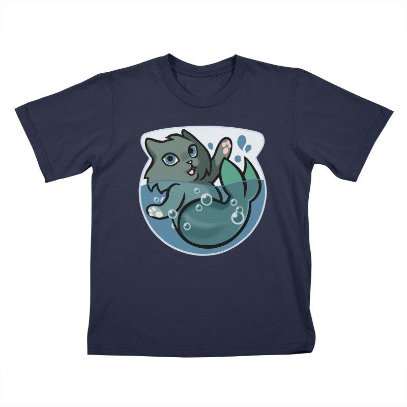 MerCat Kids T-Shirt by The Art of Mirana Reveier