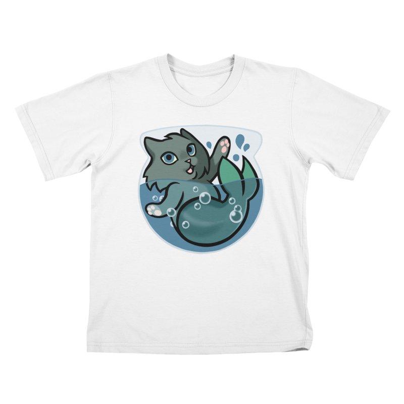 MerCat Kids T-Shirt by mirana's Artist Shop