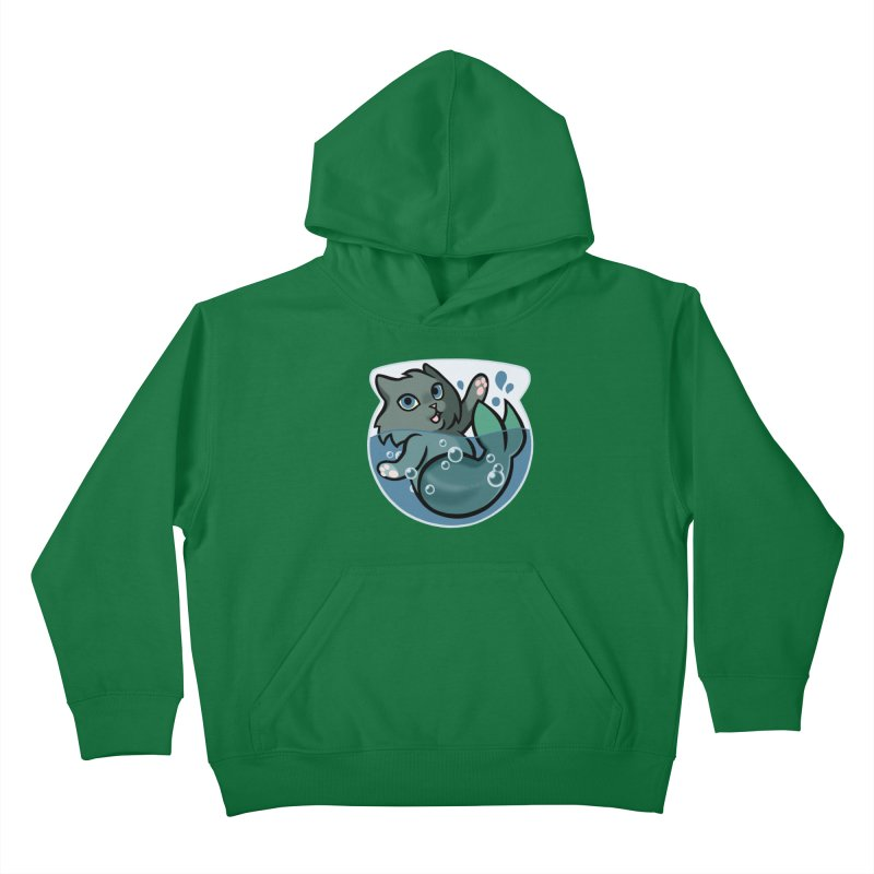 MerCat Kids Pullover Hoody by mirana's Artist Shop