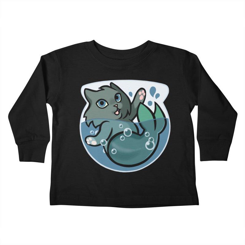 MerCat Kids Toddler Longsleeve T-Shirt by The Art of Mirana Reveier