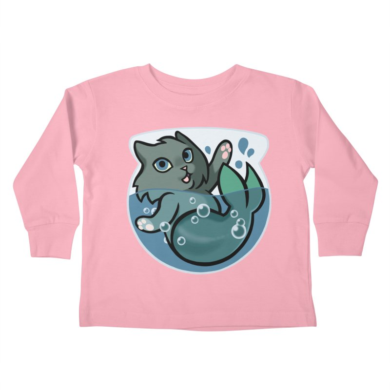 MerCat Kids Toddler Longsleeve T-Shirt by mirana's Artist Shop