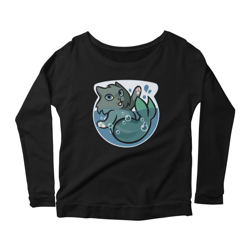 MerCat Women's Scoop Neck Longsleeve T-Shirt by mirana's Artist Shop