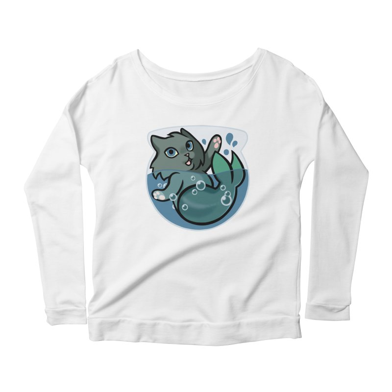 MerCat Women's Scoop Neck Longsleeve T-Shirt by mirana's Artist Shop