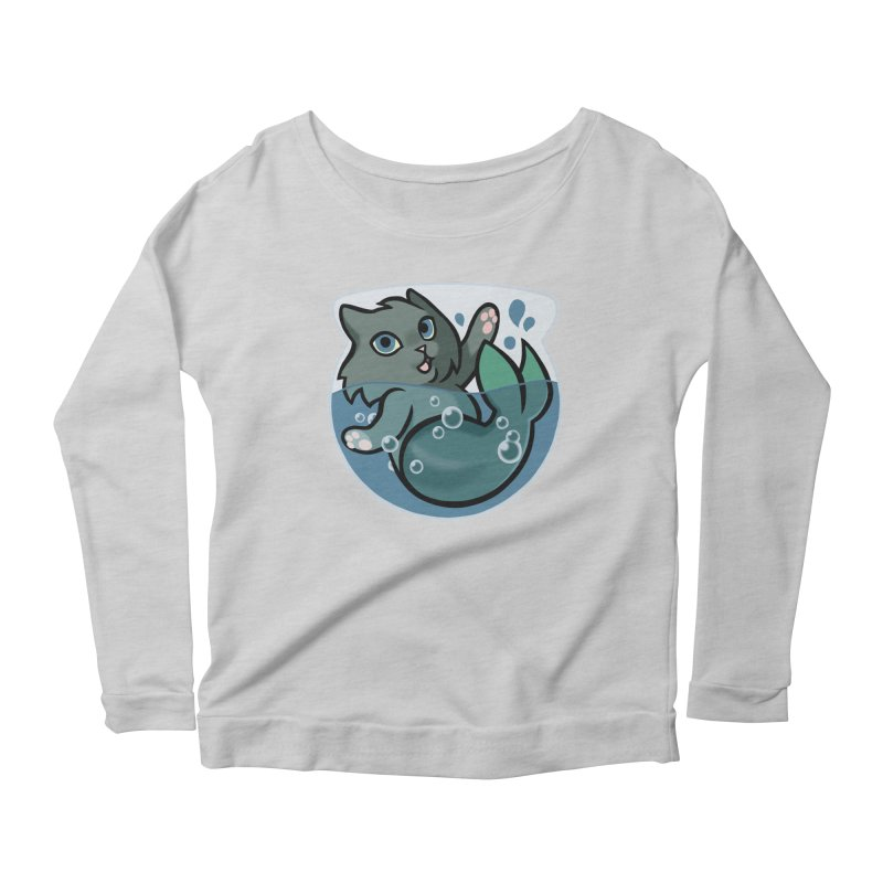 MerCat Women's Longsleeve Scoopneck  by mirana's Artist Shop