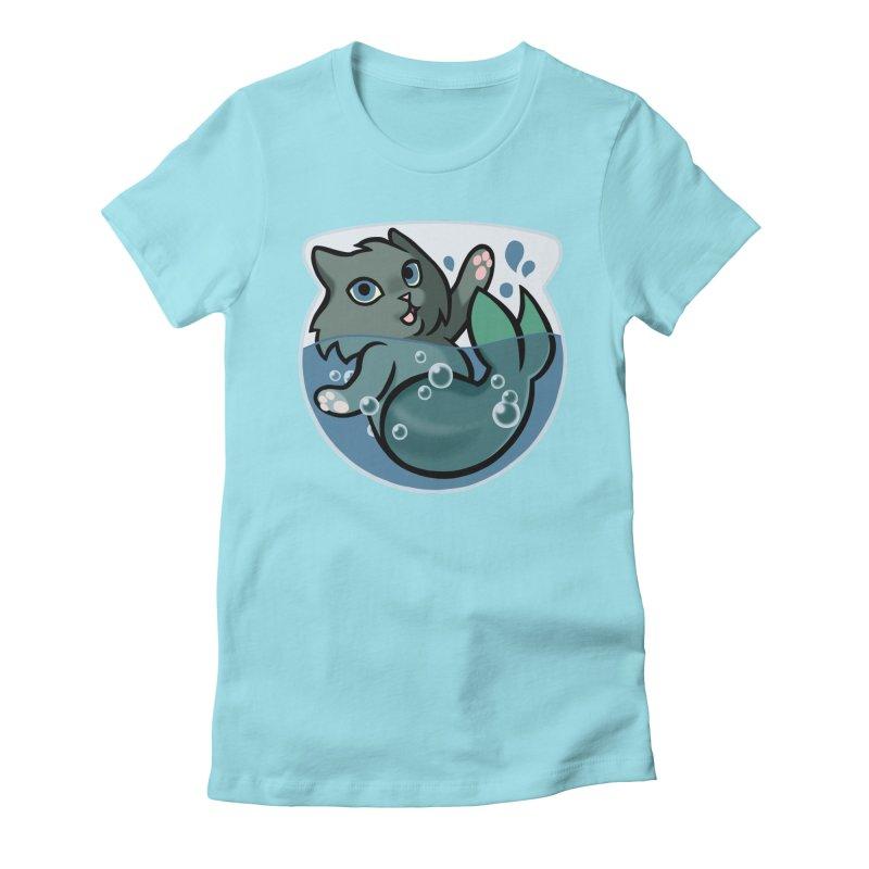 MerCat Women's Fitted T-Shirt by mirana's Artist Shop