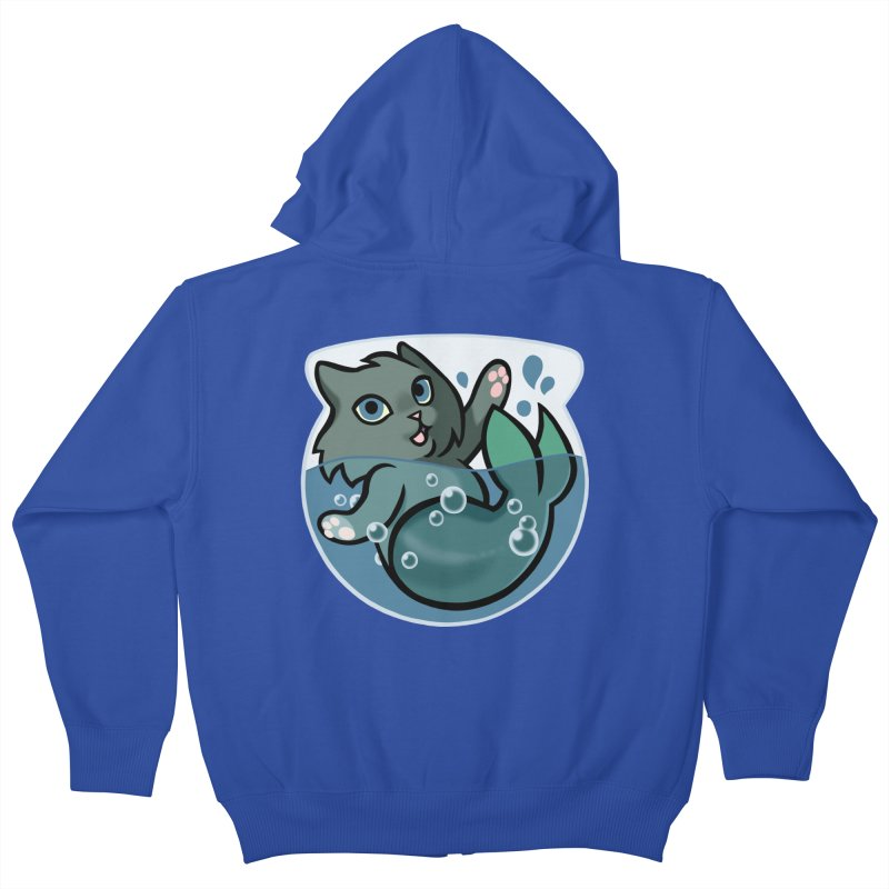 MerCat Kids Zip-Up Hoody by mirana's Artist Shop