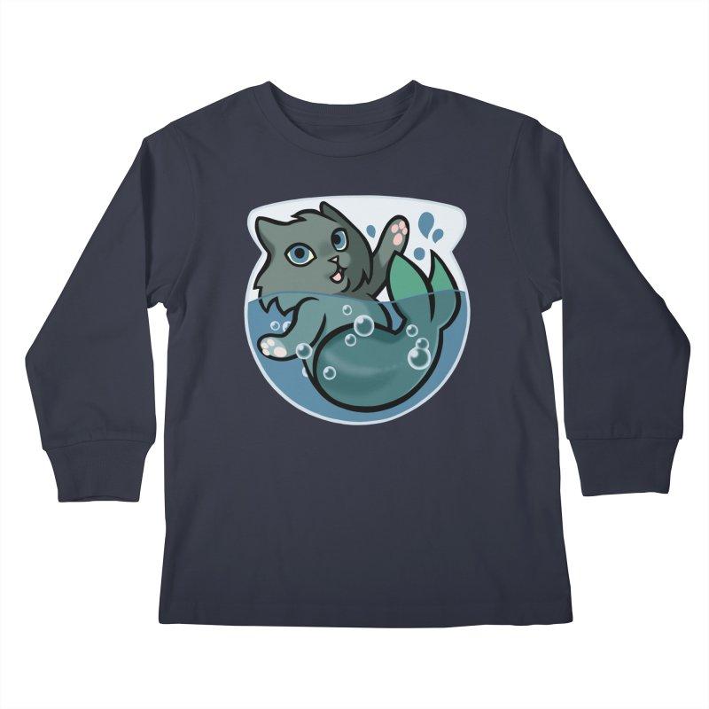 MerCat Kids Longsleeve T-Shirt by The Art of Mirana Reveier
