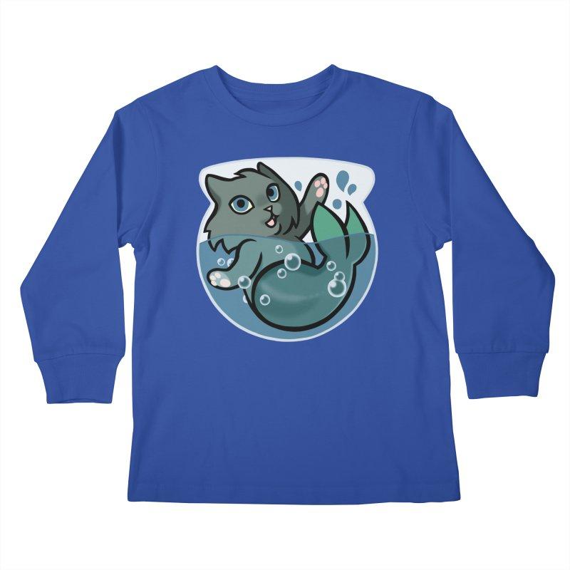 MerCat Kids Longsleeve T-Shirt by mirana's Artist Shop