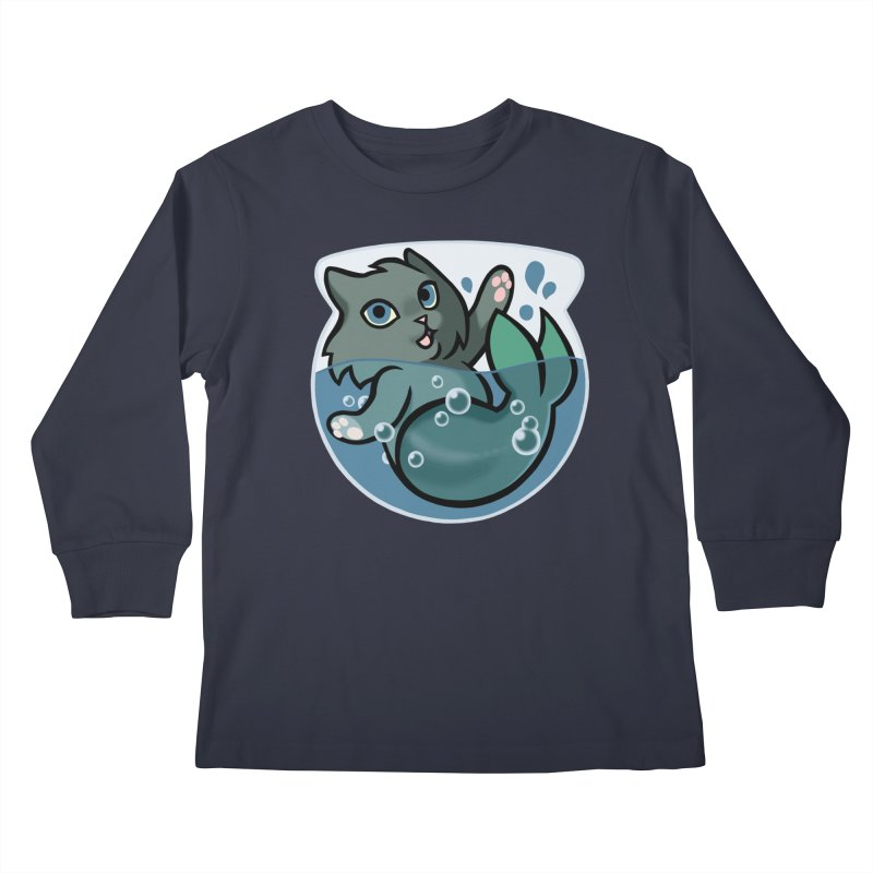 MerCat Kids Longsleeve T-Shirt by mirana's Artist Shop