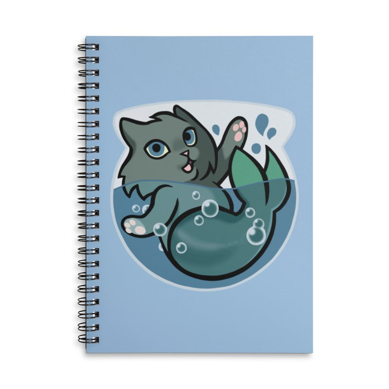 MerCat Accessories Lined Spiral Notebook by mirana's Artist Shop