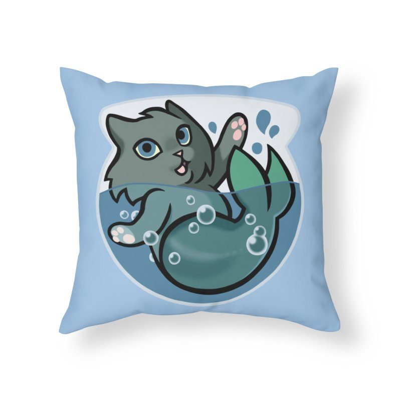 MerCat Home Throw Pillow by mirana's Artist Shop