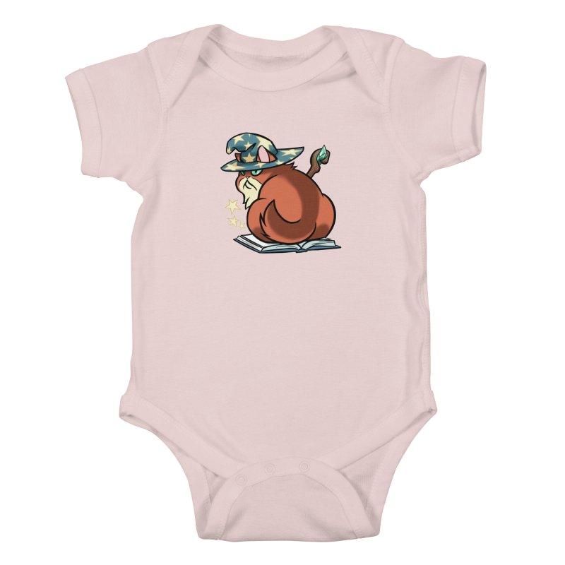 Wizard Cat Kids Baby Bodysuit by The Art of Mirana Reveier
