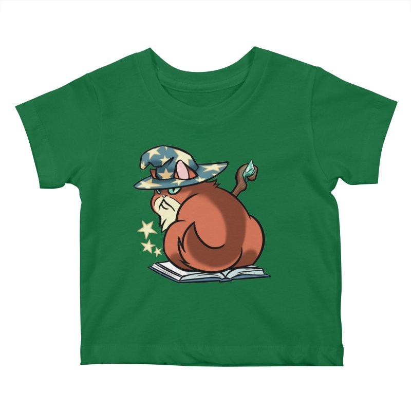 Wizard Cat Kids Baby T-Shirt by The Art of Mirana Reveier