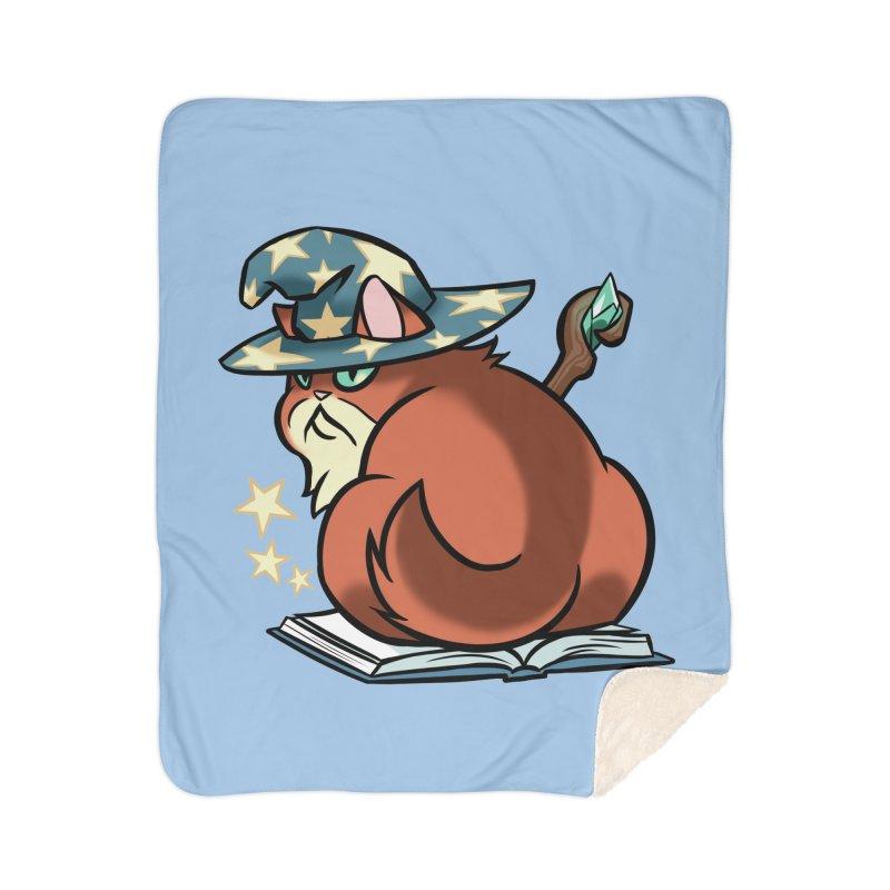 Wizard Cat Home Blanket by The Art of Mirana Reveier