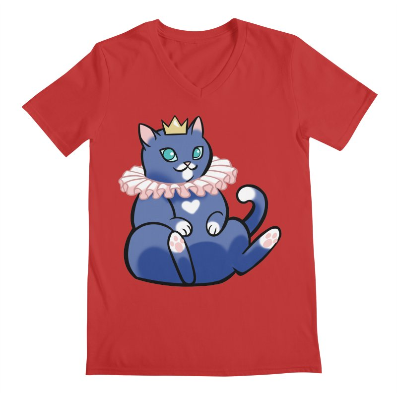 King Cat Men's V-Neck by The Art of Mirana Reveier