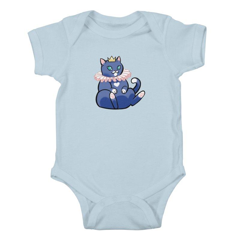 King Cat Kids Baby Bodysuit by The Art of Mirana Reveier